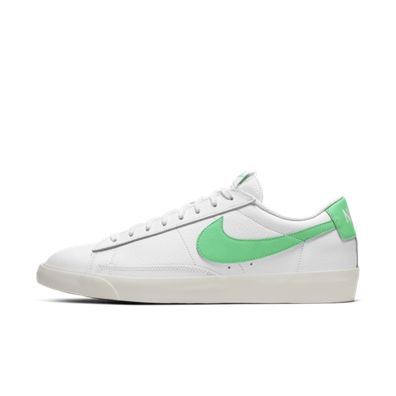 Nike Blazer Low Leather 'Green Swoosh' productafbeelding