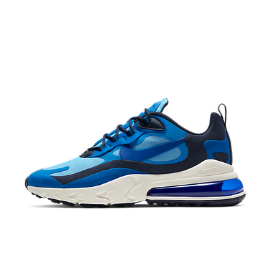 "Nike Nike Air Max 270 React ""Triple Blue"" productafbeelding"