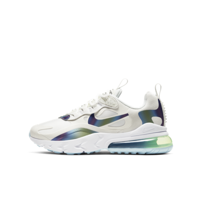 Nike Air max 270 React GS Bubble Pack 'White' productafbeelding