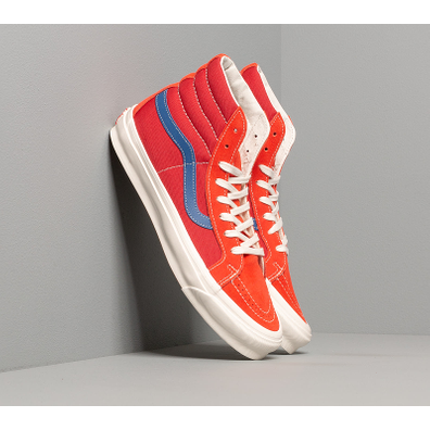 Vans OG Sk8-Hi LX (Suede/ Canvas) Red/ Blue productafbeelding