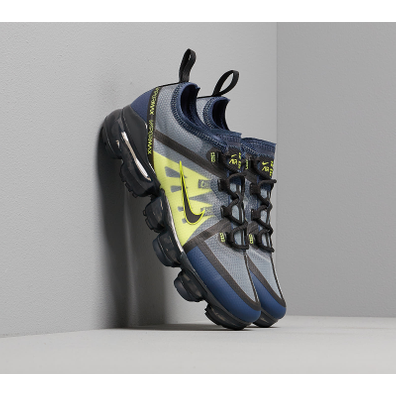 Nike Air Vapormax 2019 (GS) Midnight Navy/ Black-Lemon Venom productafbeelding