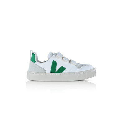 Veja Vegan V-10 white/emeraude PS productafbeelding