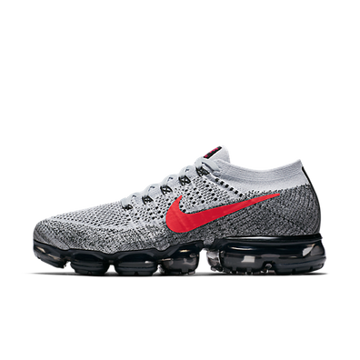 "Nike Air VaporMax Flyknit ""Pure Platinum/University Red"" productafbeelding"