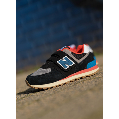 New Balance 574 black/Orange PS productafbeelding