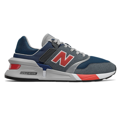 New Balance 997 Gray/ Red productafbeelding