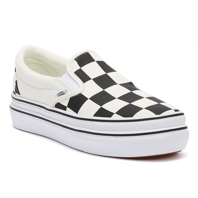 Vans Super Comfycush Slip-On Womens Black Checkerboard Trainers productafbeelding