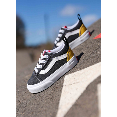 Vans Old skool elastic Dark Grey/Red/Yellow TS productafbeelding