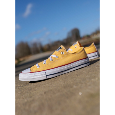Converse Ox garnet yellow/red  GS productafbeelding