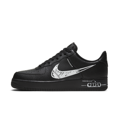 Nike Air Force 1 Sketch 'Black' productafbeelding
