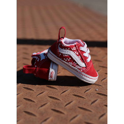 Vans Old skool crib logo-red productafbeelding