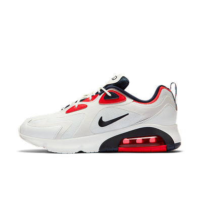 Nike Air Max 200 White Red Obsidian productafbeelding