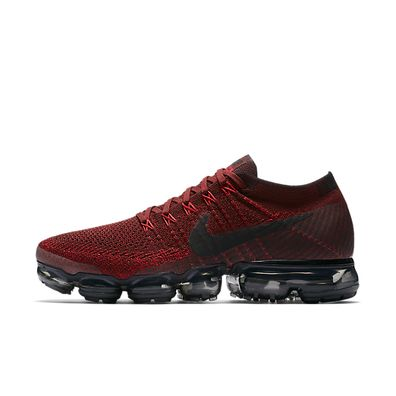 Nike Air VaporMax Flyknit Dark Team Red productafbeelding