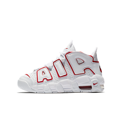 Nike Air More Uptempo White Varsity Red Outline (GS) productafbeelding