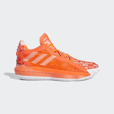 adidas Dame 6 Solar Red White productafbeelding