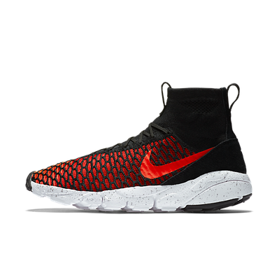 Nike Air Footscape Magista Flyknit Black/Bright Crimson-Gym Red-Cool Grey productafbeelding