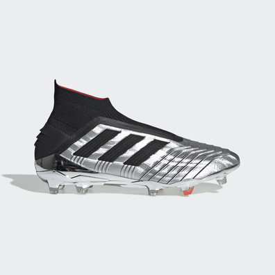 adidas Predator 19+ Firm Ground Cleat Silver Black Red productafbeelding