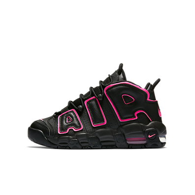 Nike Air More Uptempo Black Pink Blast (GS) productafbeelding