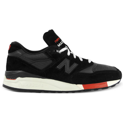 New Balance 998 Kithstrike Black Red productafbeelding