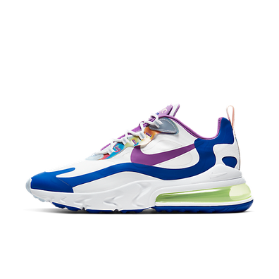 Nike Air Max 270 React White Berry Royal (W) productafbeelding