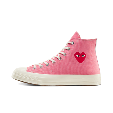 Comme des Garcons X Converse Chuck Taylor Hi 'Bright Pink' productafbeelding