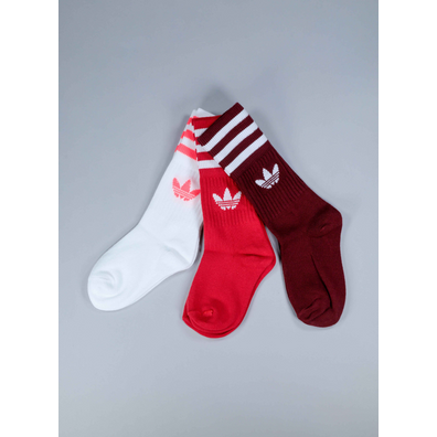 Adidas Solid crew socks red 3-pack productafbeelding