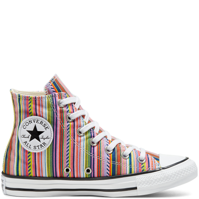 Unisex Summer Stripes Chuck Taylor All Star High Top productafbeelding