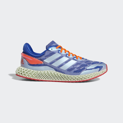 adidas 4D Run 1.0 Glory Blue Solar Red productafbeelding