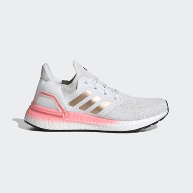 adidas Ultra Boost 20 White Copper Flash Red (W) productafbeelding