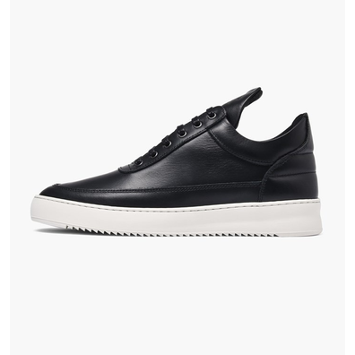 Filling Pieces Filling Pieces Low Top Ripple Nappa Black productafbeelding