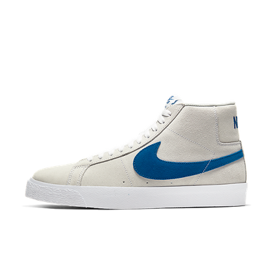 Nike SB Zoom Blazer Mid White Cerulean productafbeelding