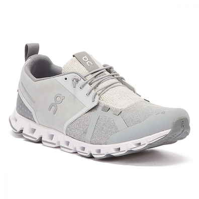 On Running Cloud Terry Mens Silver Trainers productafbeelding