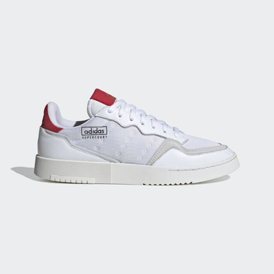 adidas Supercourt Ftw White/ Ftw White/ Scarlet productafbeelding
