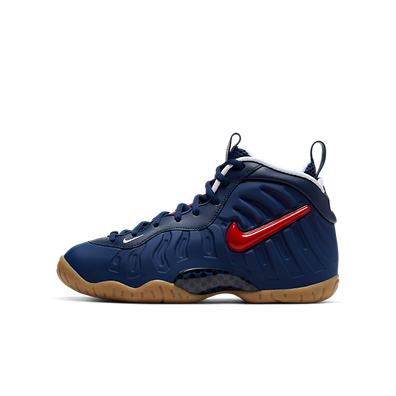 Nike Air Foamposite Pro Blue Void University Red (GS) productafbeelding