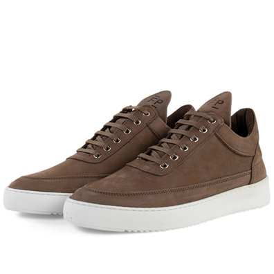 Filling Pieces Low Top Ripple Nubuck 'Almond' productafbeelding