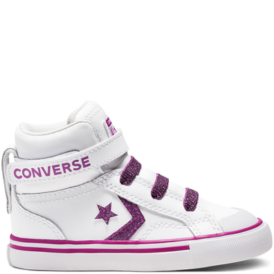 Toddler Coated Glitter Pro Blaze Strap High Top productafbeelding
