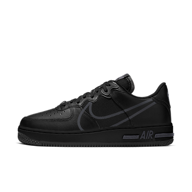Nike Air Force 1 React Black Anthracite productafbeelding