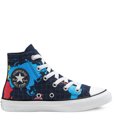 Big Kids Geography Class Chuck Taylor All Star High Top productafbeelding