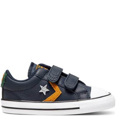Toddler Leather Twist Easy-On Star Player Low Top productafbeelding