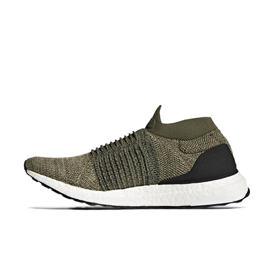 adidas Ultra Boost Laceless Olive productafbeelding
