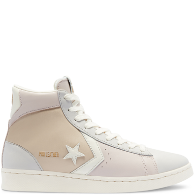 Unisex Neutral Tones Pro Leather High Top productafbeelding