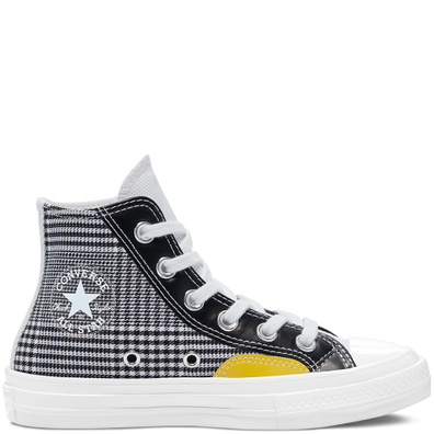 CHUCK 70 HI WHITE/BLACK/SPEED YELLOW productafbeelding