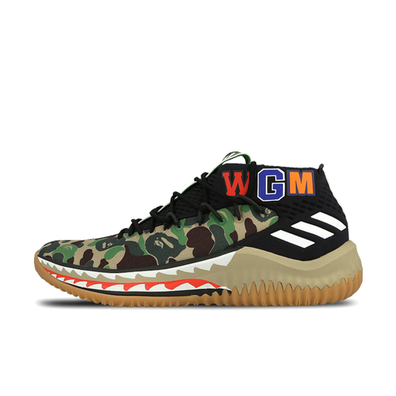 adidas Dame 4 X Bape 'A Bathing Ape Green' productafbeelding