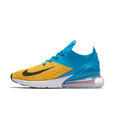 Nike Air Max 270 FlyKnit 'Yellow/Blue' productafbeelding