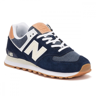New Balance 574 Mens Navy / Tan Trainers productafbeelding