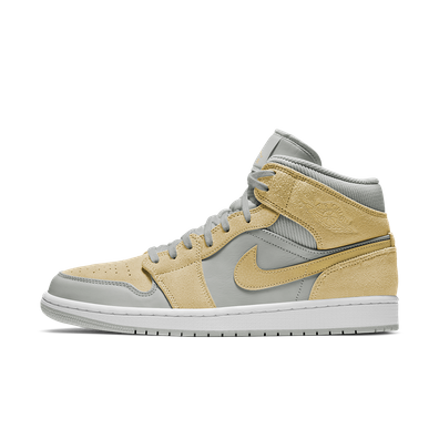 Air Jordan 1 Mid SE 'Light Bone/Yellow' productafbeelding