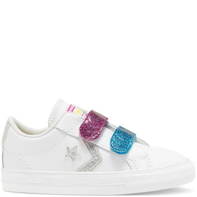 Toddler Coated Glitter Easy-On Star Player Low Top productafbeelding