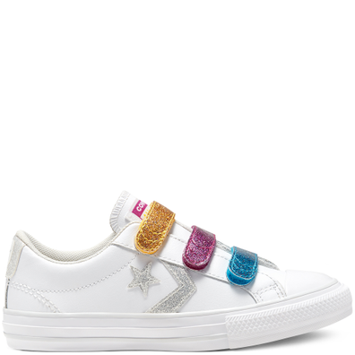 Big Kids Coated Glitter Easy-On Star Player Low Top productafbeelding