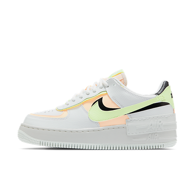 Nike Air Force 1 Shadow Summit White Barely Volt Crimson Tint (W) productafbeelding