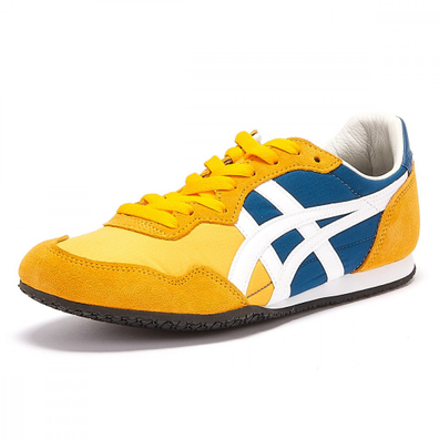 Onitsuka Tiger Serrano Mens Yellow / Blue Trainers productafbeelding