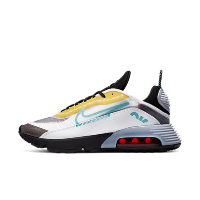 Nike Air Max 2090 White Speed Yellow Bleached Aqua productafbeelding